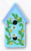 86324 Light Blue Birdhouse With Flowers