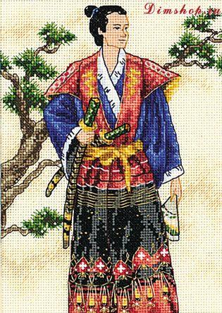 Набор для вышивания Самурай, Dimensions 6813 купить в санкт петербурге Шале, Aida 18, Счетный крест.