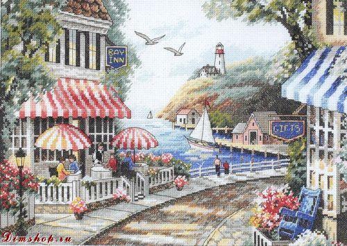 Набор для вышивания Cafe by the Sea (Кафе у моря) .
