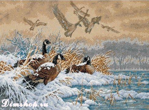 Зимний перелет Winter Retreat Королевство вышивки