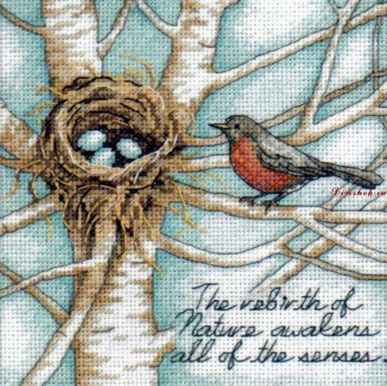 Схема вышивки крестом в гнезде 155