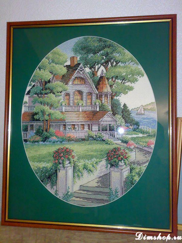 Утопающий в зелени домик в исполнении