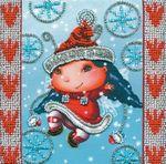 """Набор для вышивания бисером  """"Абрис Арт """" АМ-017 Рождественский Эльф."""