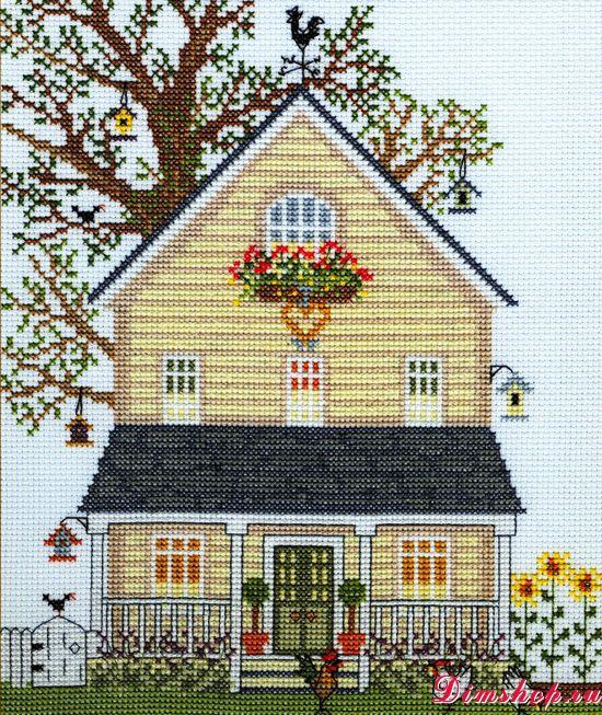 Имбирный дом схема вышивки 33