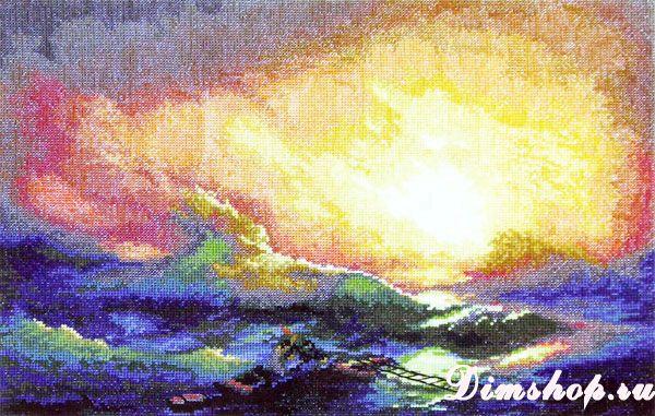 Вышивка крестом девятый вал айвазовского