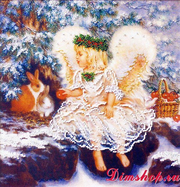 Набор для вышивания Чаривна мить Б-556 Ангелочек зимой 1d7d804c46624