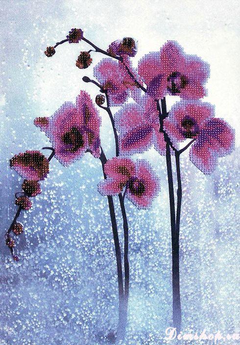 Орхидея из бисера наборы для вышивания