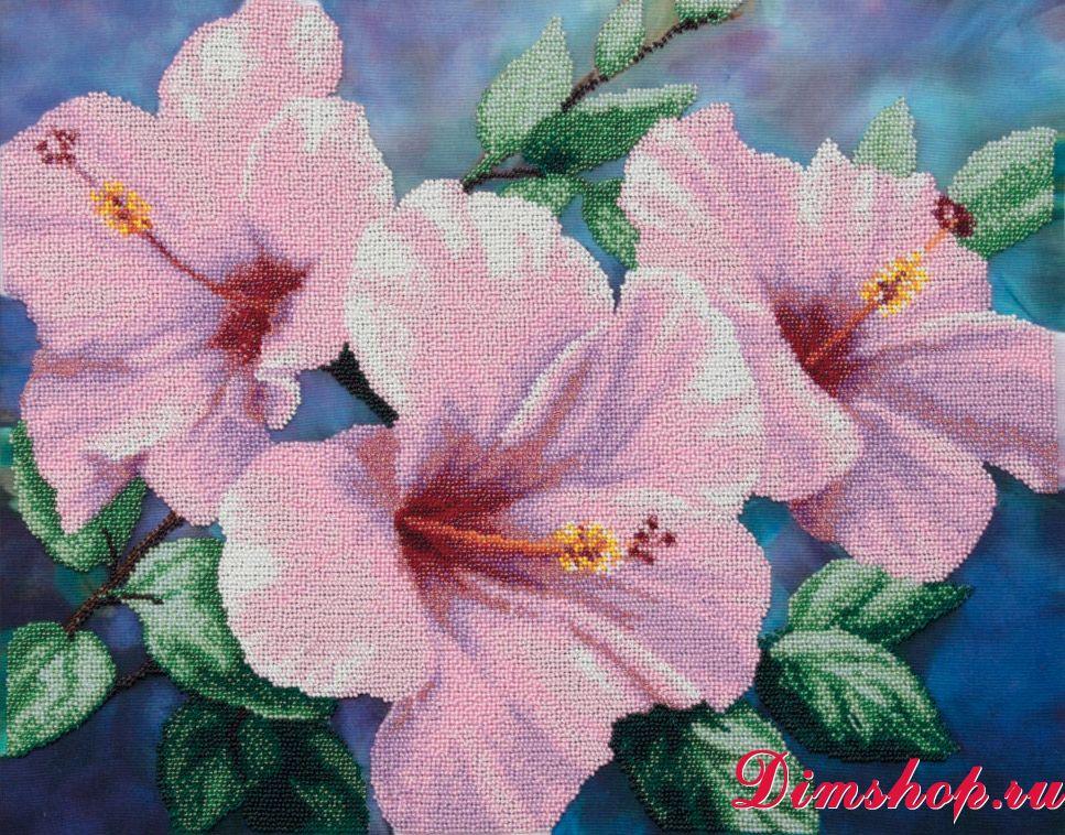 Набор для вышивания Чаривна мить Б-722 Гибискус розовый 15cddf123dd4a