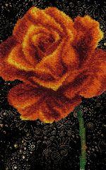 Набор для вышивания Чаривна мить Б-555 Ангелочек и розовый куст e8413b352554b