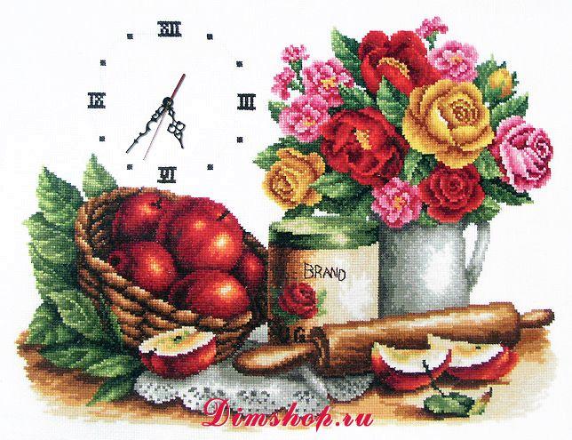 Вышивка крестом картин для кухни 72