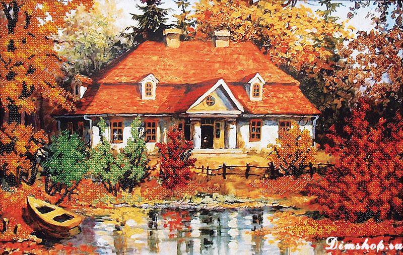 картинка мулине дом у озера большой