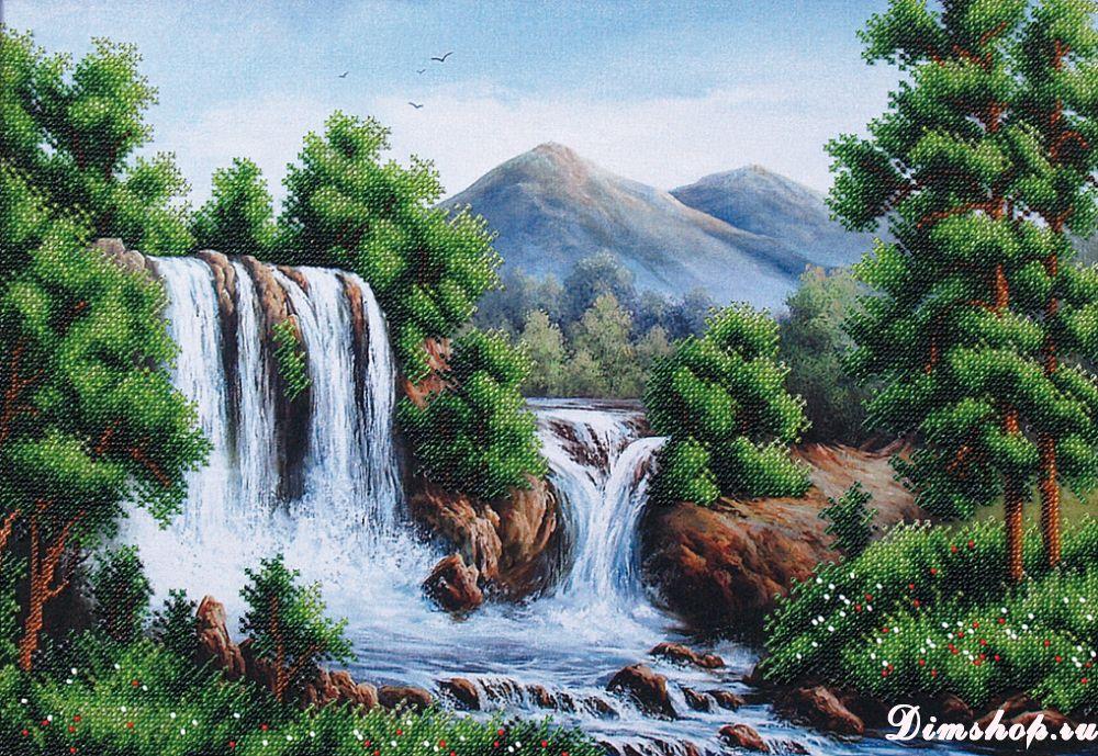 Схемы вышивки водопадов бисером