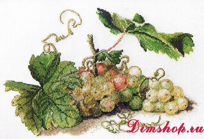 Набор для вышивки крестом виноград 885