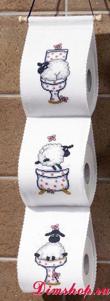 Держатель для бумаги туалетной вышивка 85
