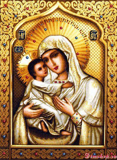 Гоблен Св Богородица Умиление малък модел от по