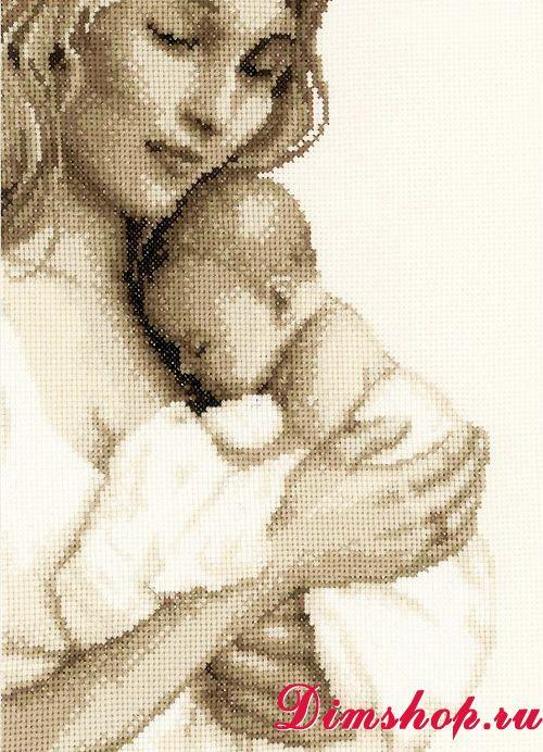 Вышивка женщина с ребенком